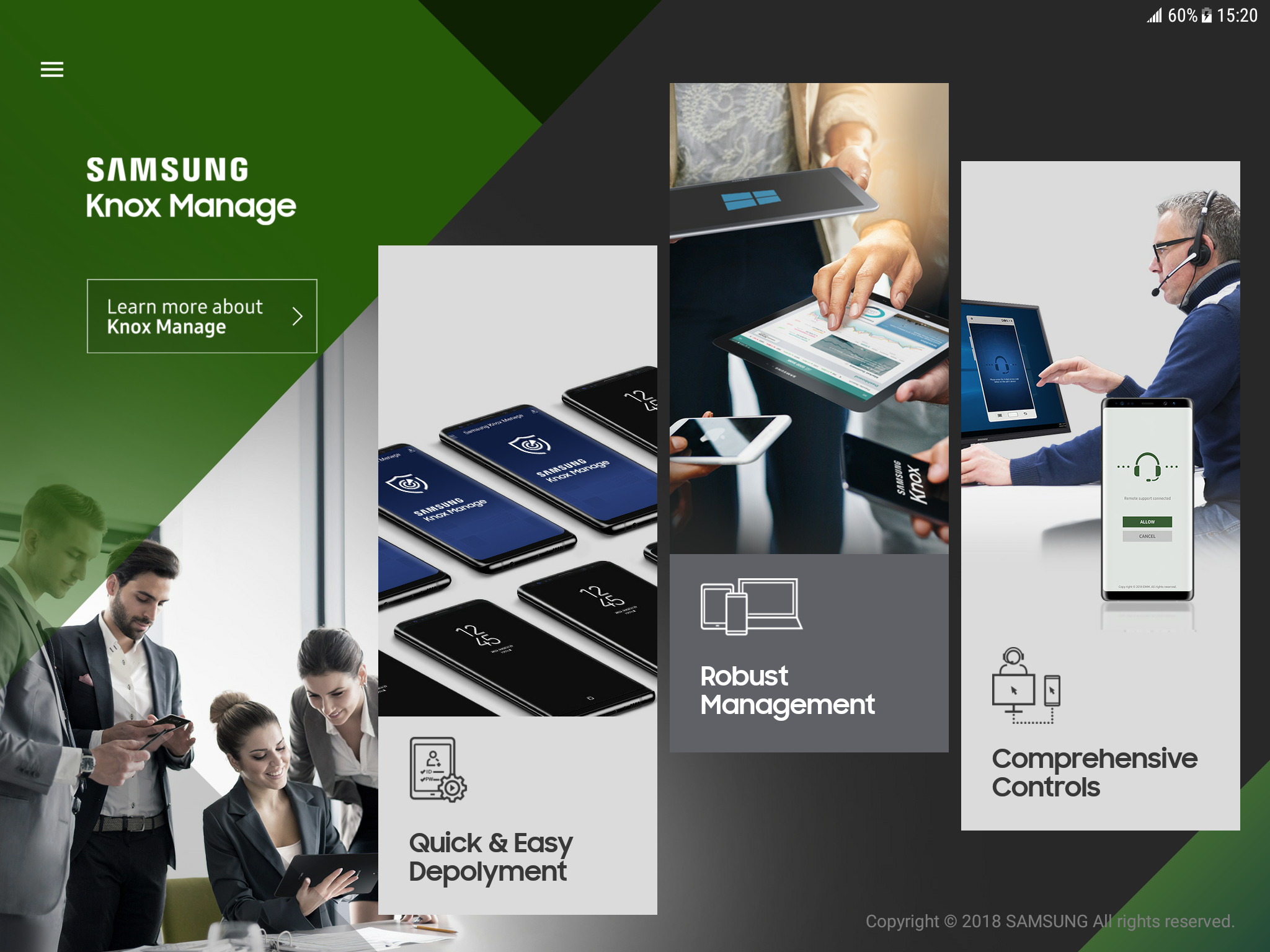 Knox Manage: Experience app – Samsung Knox Support